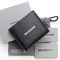 BALENCIAGA EVERYDAY TOTE Unisex Calfskin Blended Fabrics Street Style Bi-color Plain