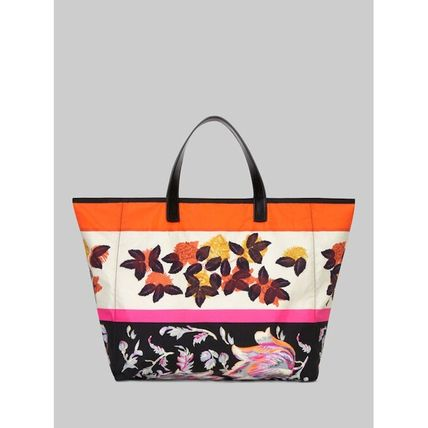 Flower Patterns Paisley Nylon 2WAY Totes