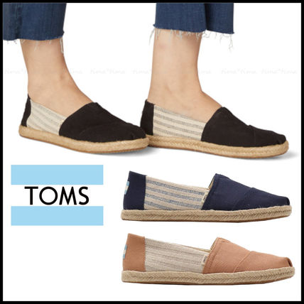 Casual Style Plain Logo Slip-On Shoes