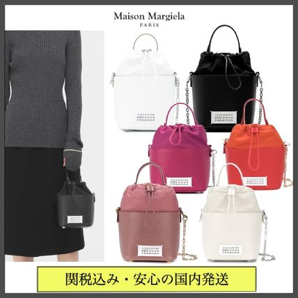 Maison Margiela 5AC Casual Style 2WAY Chain Plain Leather Party Style Purses