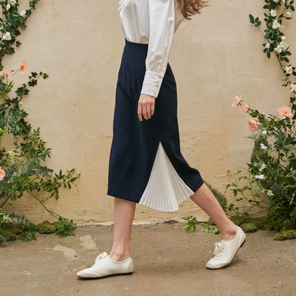 Pencil Skirts Casual Style Pleated Skirts Formal Style