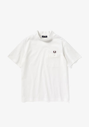 FRED PERRY Henry Neck Street Style Plain Cotton Short Sleeves