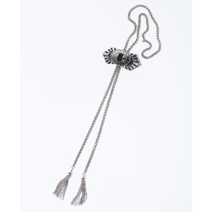 Street Style Chain Party Style Fringes Silver Formal Style