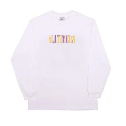Crew Neck Pullovers Street Style Long Sleeves Plain Cotton