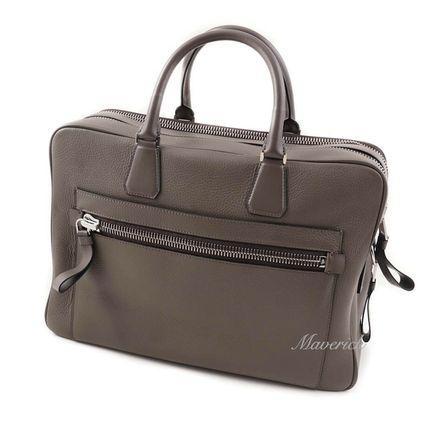 TOM FORD 2WAY Plain Leather Logo Business & Briefcases