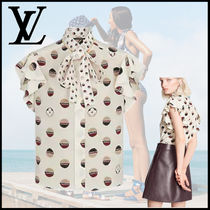Louis Vuitton MONOGRAM Flounce Sleeve Lavaliere Blouse
