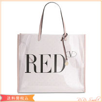 RED VALENTINO Plain PVC Clothing Logo Totes
