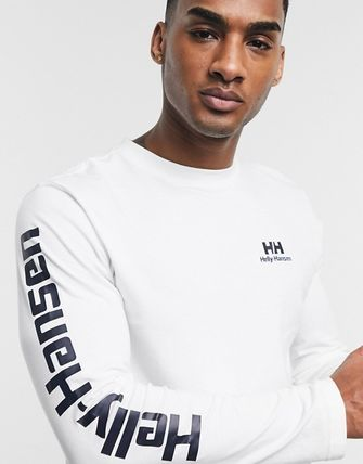 Crew Neck Street Style Plain Short Sleeves Logo