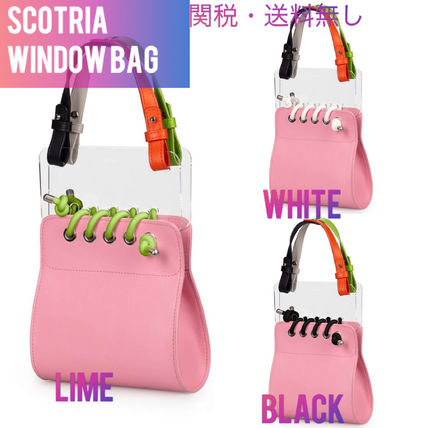 Casual Style Bi-color Plain Leather Party Style Purses