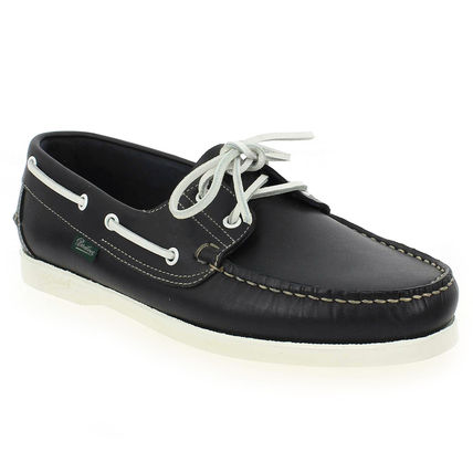 Plain Leather Deck Shoes Loafers & Slip-ons
