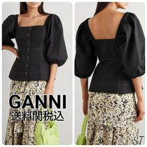 Ganni Other Plaid Patterns Casual Style Street Style Cropped Plain