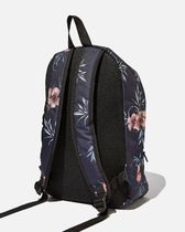 TYPO Flower Patterns Casual Style Backpacks