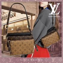 Louis Vuitton MONOGRAM Monogram Casual Style Canvas Lambskin 3WAY Leather