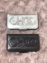 Jimmy Choo Plain Leather iPhone 8 Logo Smart Phone Cases