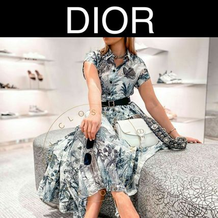 Christian Dior Tropical Patterns Casual Style Flared Street Style Cotton