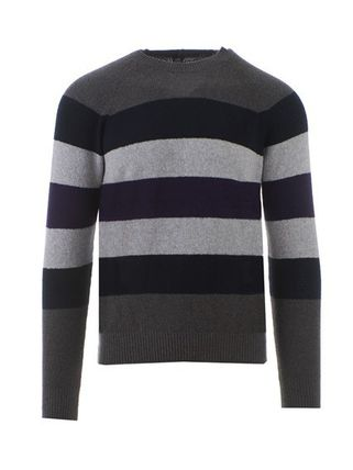 Crew Neck Stripes Street Style Long Sleeves Sweaters