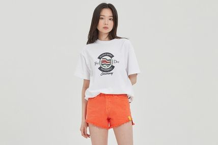 Unisex Street Style Cotton Short Sleeves T-Shirts