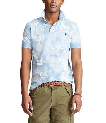 Tropical Patterns Street Style Tie-dye Cotton Short Sleeves