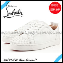 Christian Louboutin LOUIS Blended Fabrics Street Style Plain Leather Sneakers