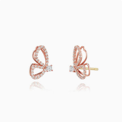Casual Style With Jewels 14K Gold Elegant Style Earrings