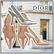 Christian Dior JADIOR Party Style Elegant Style Logo Pointed Toe Pumps & Mules