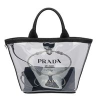 PRADA PLEX Casual Style Plain Crystal Clear Bags PVC Clothing Logo