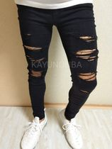 American Eagle Outfitters Skinny Unisex Street Style Plain Skinny Jeans 4