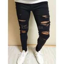 American Eagle Outfitters Skinny Unisex Street Style Plain Skinny Jeans 5