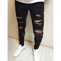 American Eagle Outfitters Skinny Unisex Street Style Plain Skinny Jeans 6