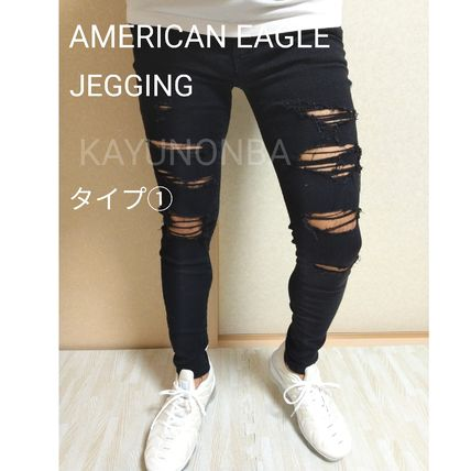 American Eagle Outfitters Skinny Unisex Street Style Plain Skinny Jeans