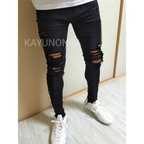American Eagle Outfitters Skinny Unisex Street Style Plain Skinny Jeans 8
