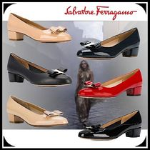 Salvatore Ferragamo Plain Toe Casual Style Street Style Plain Leather