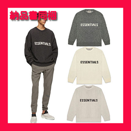 FEAR OF GOD Sweaters Crew Neck Pullovers Unisex Street Style Collaboration