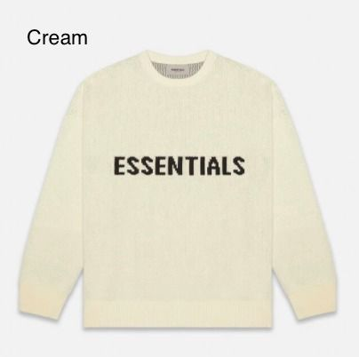 FEAR OF GOD Sweaters Crew Neck Pullovers Unisex Street Style Collaboration 4
