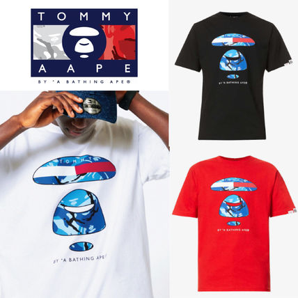 Tommy Hilfiger More T-Shirts Unisex Street Style Collaboration Logo T-Shirts