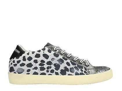 Leopard Patterns Round Toe Casual Style Leather Logo