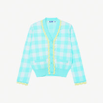 SJYP Gingham Casual Style Street Style Long Sleeves Elegant Style