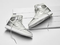 Nike JORDAN 1 Unisex Street Style Leather Sneakers