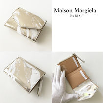 Maison Margiela Plain Folding Wallet Small Wallet Logo Metallic