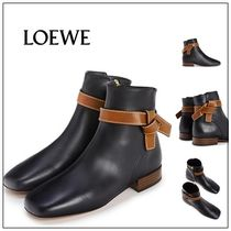 LOEWE GATE Leather Ankle & Booties Boots