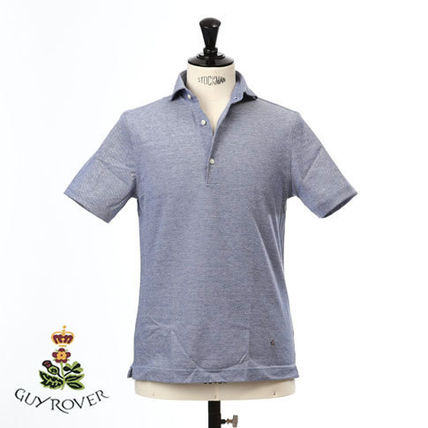 Pullovers Plain Cotton Short Sleeves Logo Polos