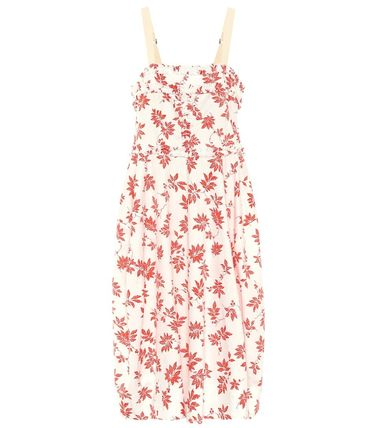 Flower Patterns Casual Style Maxi Sleeveless Flared