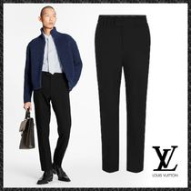 Louis Vuitton Slax Pants Tapered Pants Wool Plain Tapered Pants