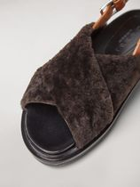 MARNI Rubber Sole Casual Style Plain Leather Party Style Slippers