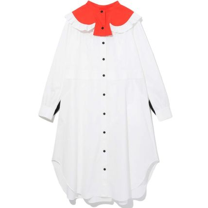 Heart Long Sleeves Cotton Shirt Dresses Dresses