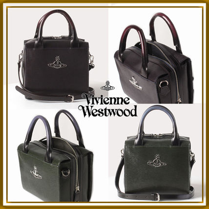 Casual Style Calfskin 2WAY Plain Leather Party Style