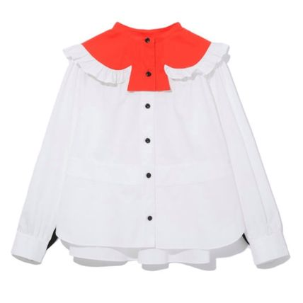 Heart Long Sleeves Cotton Shirts & Blouses