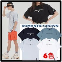 ROMANTIC CROWN Unisex Street Style Short Sleeves T-Shirts