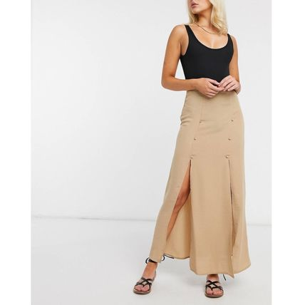 ASOS Pencil Skirts Casual Style Street Style Plain Long
