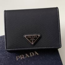 PRADA Saffiano Nylon Plain Folding Wallet Small Wallet